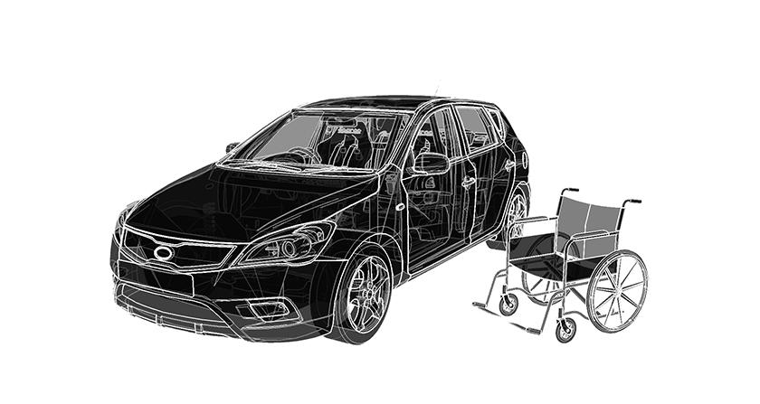 Simulateur auto PMR Handicap conduite